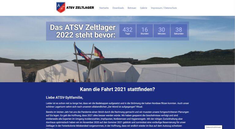 """<p>Das Zeltlager des Ahrensburger Turn und Sport Verein hat ebenfalls eine neue Seite bekommen.</p> <p><a href=""""http://atsv.de/sylt/"""">atsv.de/sylt/</a></p>"""