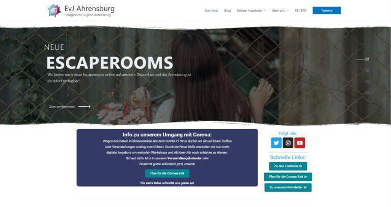 """<p>Ich bin verantwortlich für die Website der Evangelischen Jugend Ahrensburg</p> <p><a href=""""http://evj-ahrensburg.de"""">evj-ahrensburg.de</a></p>"""