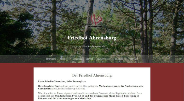 """<p>Der Friedhof Ahrensburg hat seine neue Website von SP Design bekommen.</p> <p><a href=""""https://friedhof-ahrensburg.com/"""">friedhof-ahrensburg.com</a></p>"""